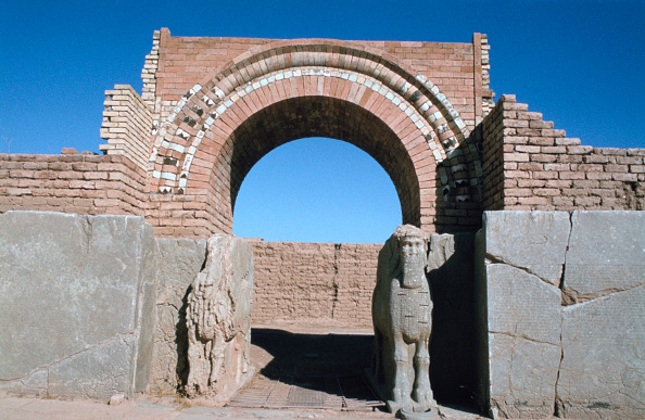 Gate, Northwest Palace, Calah (Nimrud), Iraq, 1977.