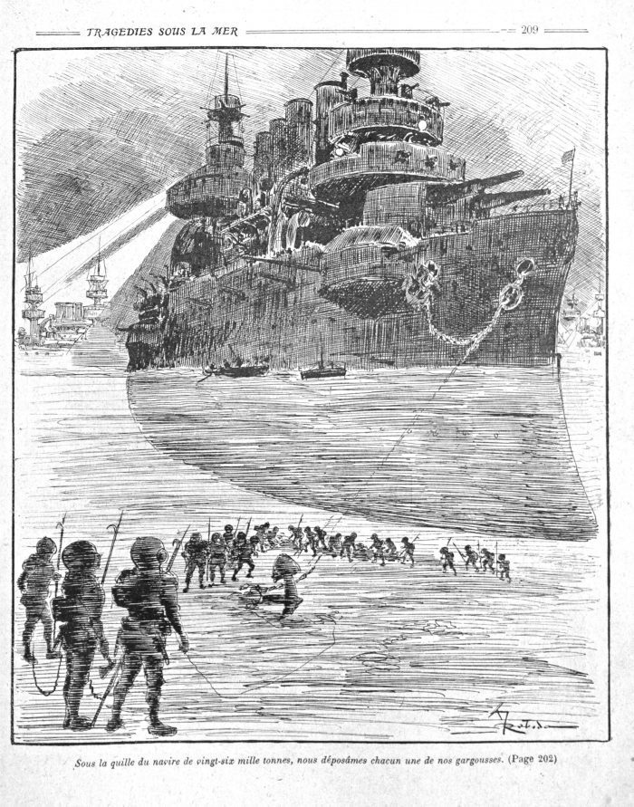 la-guerre-infernale-by-pierre-giffard-and-albert-robida-1908-battleships-and-submariners
